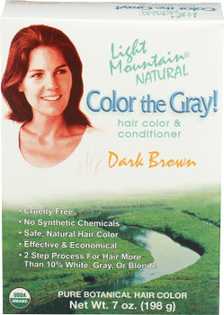 Light Mountain Natural: Color the Gray Conditioner, Dark Brown 7 oz