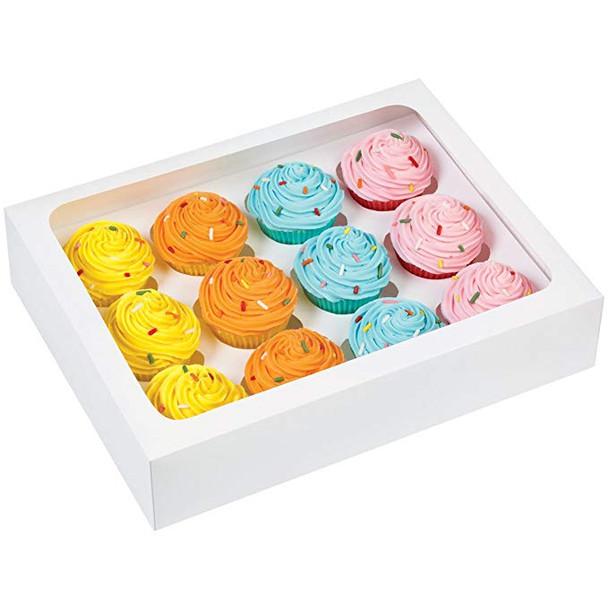 Wilton 12-Cavity Cupcake Box, Mini White - 3 ct