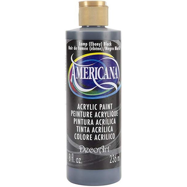 DecoArt Darice Americana Acrlics, 8 Oz, Lamp (Ebony) black