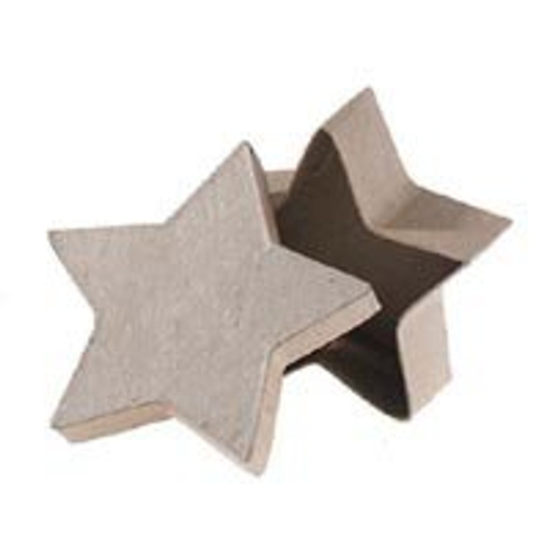 "4"" Small Star Paper Mache Boxes with Lids - Package of 12 Boxes"