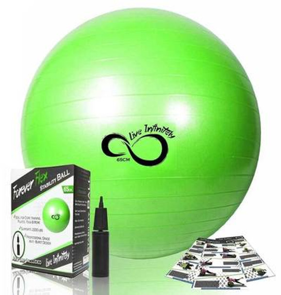 Live Infinitely Exercise Balls - Green 65cm