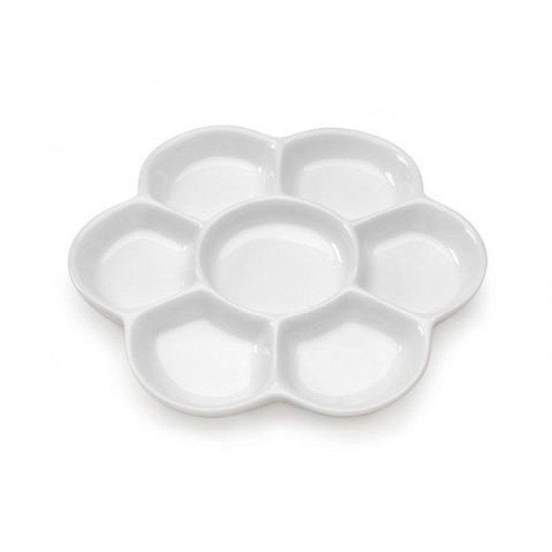 Darice 7-Well Porcelain Palette, 6-Inch
