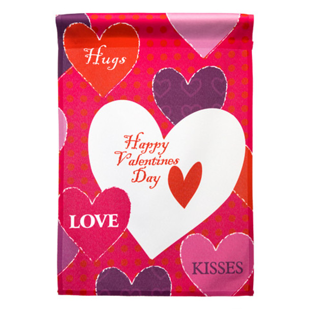Valentine's Day Heart Garden Flag