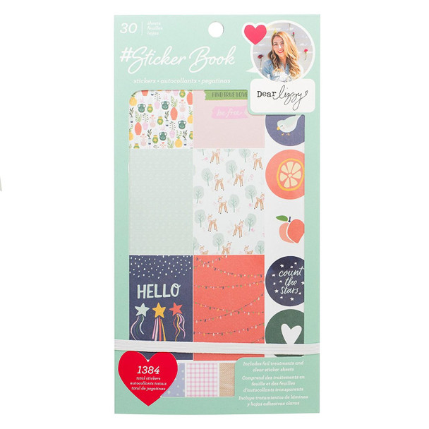 American Crafts Rose Gold Foil Dear Lizzy Stickers - 30 sheets