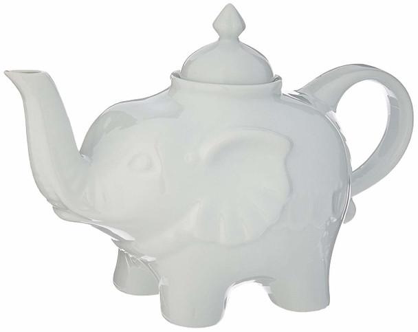 Porcelain Elephant Teapot; 28 oz