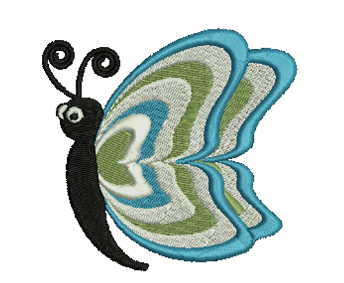 Colorful Butterfly Embroidered Download
