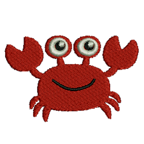 Smiling Crab Embroidered Download