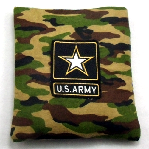 U.S. Army Flannel Embroidered Rice Heating Pad Front View