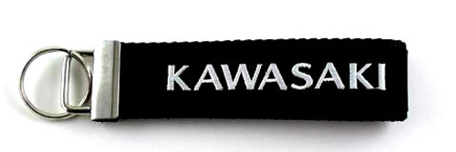 KAWASAKI Embroidered Biker Key Fob Front View