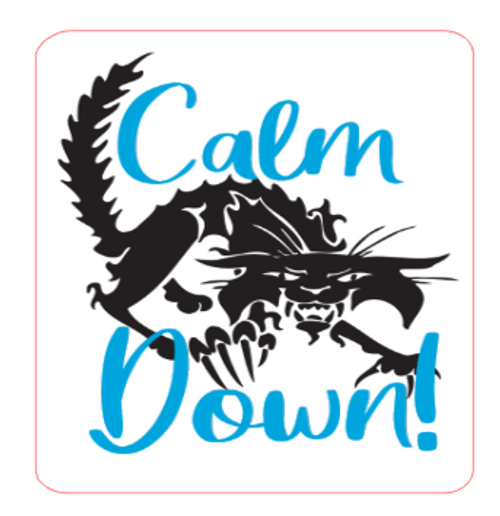 Stressed Out Cat - Calm Down! Vinyl Sticker