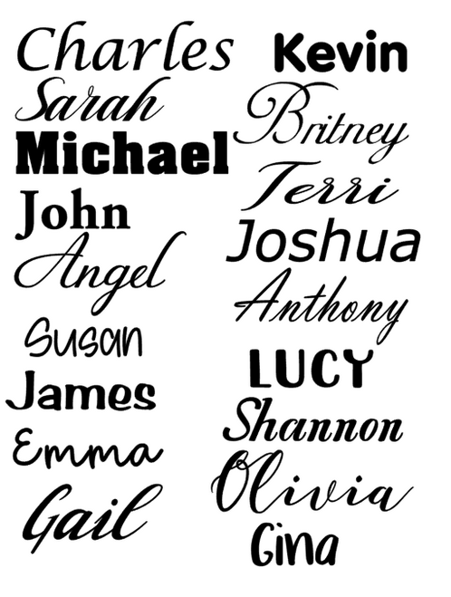 Oracal Permanent Vinyl Name Decals/Yetti/Laptop/iphones/Car decal/Tumbler
