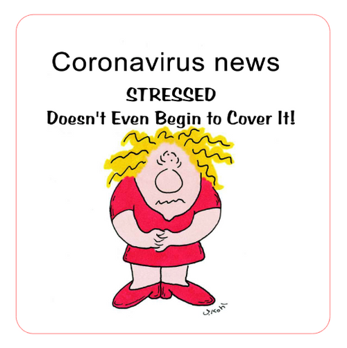 Coronavirus news -  Stressed  Doesn't Even Begin To Cover It! Vinyl Sticker