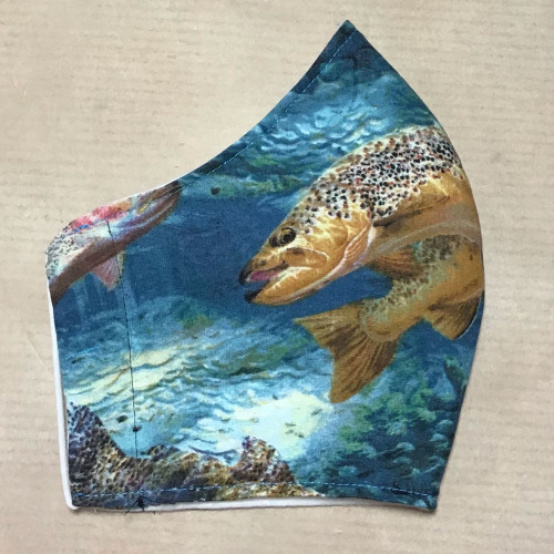 Trout Fish Design 100% Cotton Face Mask