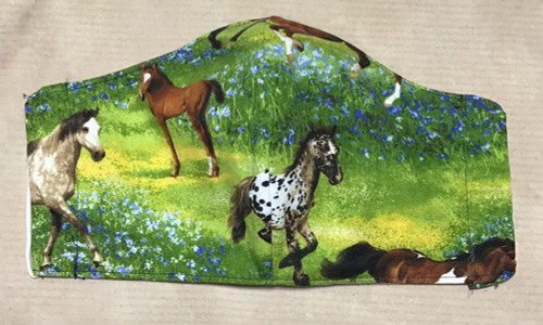 Wild Horses Design 100% Cotton Face Mask