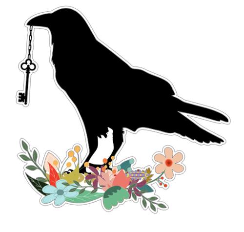 Black Raven2 Vinyl Sticker