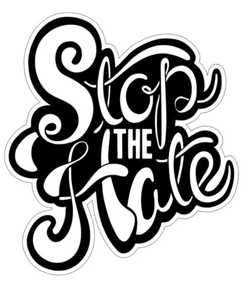 STOP THE HATE Vinyl Sticker