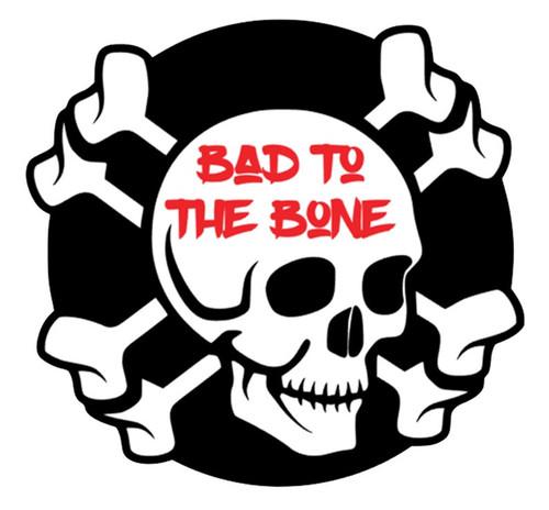 Bad To The Bone Skull Vinyl Sticker