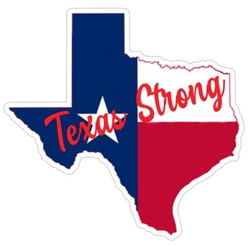 Texas Strong Vinyl Sticker