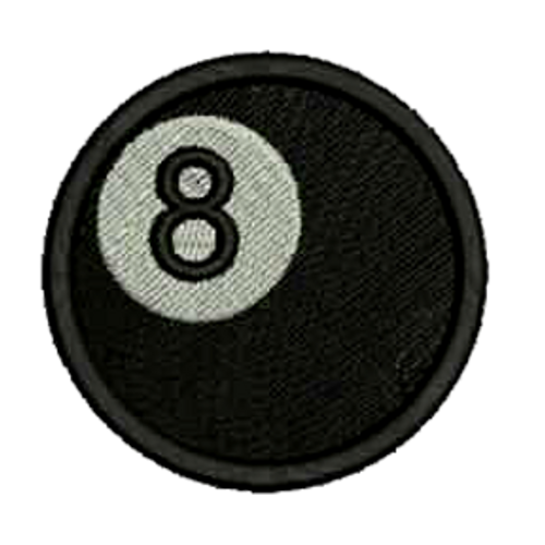 8 Ball Embroidered Patch
