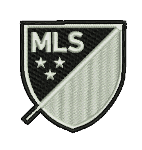 Black/White MLS Embroidered Patch