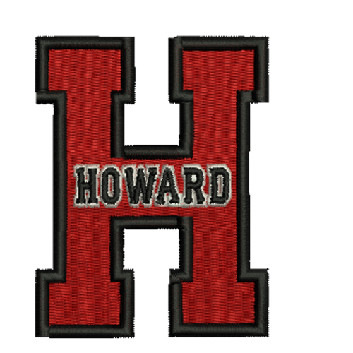 Howard Letter H Embroidered Patch