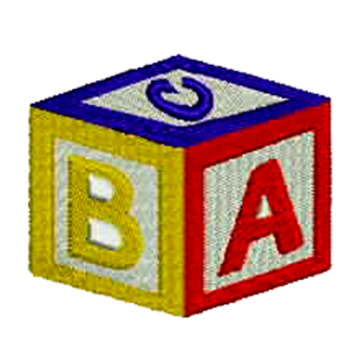 ABC Block Embroidered Patch