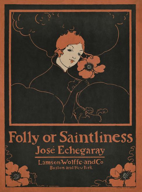 Folly Or Saintliness Vintage Poster Art Download