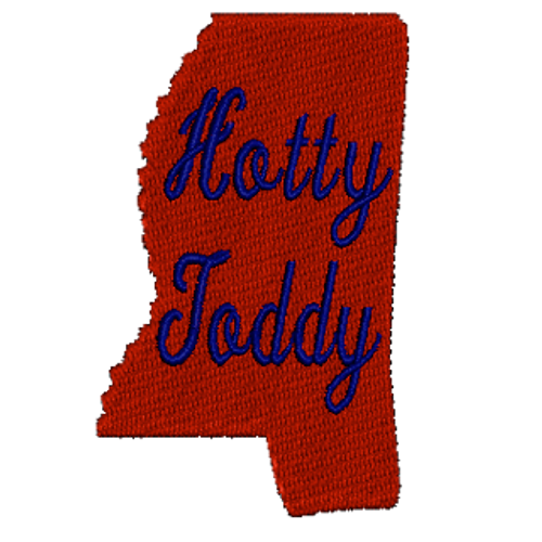 Mississippi Hotty Toddy Embroidered Patch