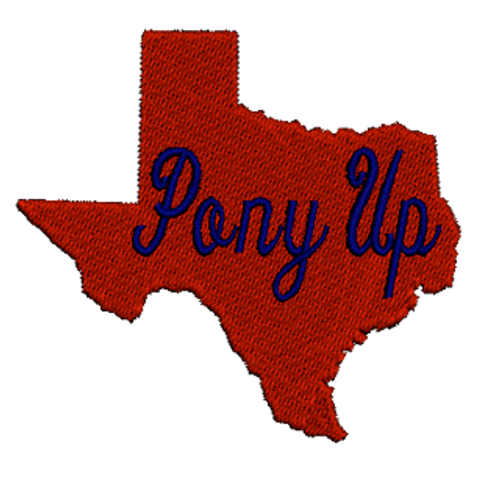 Texas Pony Up Embroidered Patch