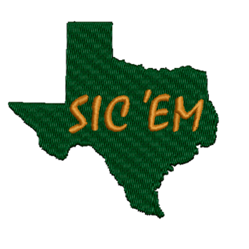 Texas Sic 'Em Embroidered Patch