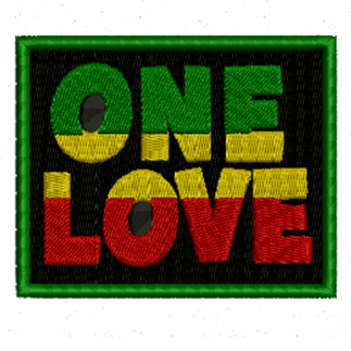 Rasta One Love Embroidered Patch