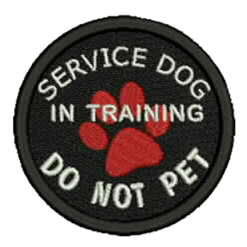 Service Dog In Training DO NOT PET Embroidered Patch