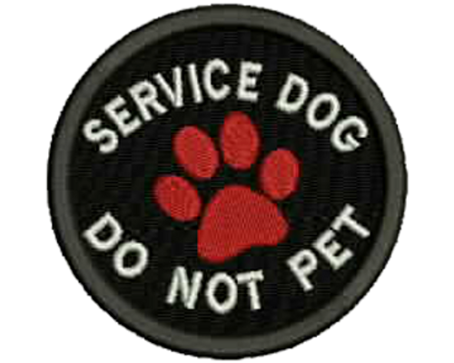 Service Dog DO NOT PET Embroidered Patch