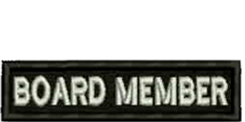 Board Member Biker Embroidered Patch