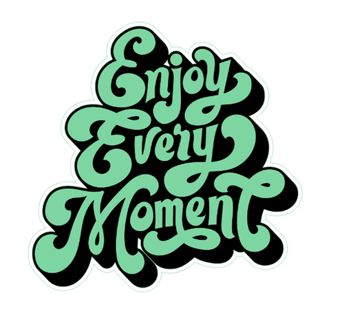 Enjoy Every Moment Vinyl Sticker