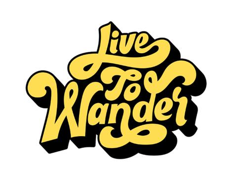 Live To Wander Vinyl Sticker