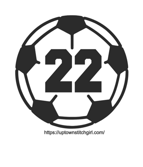 Personalized Soccer Ball Vinyl Permanent Decal