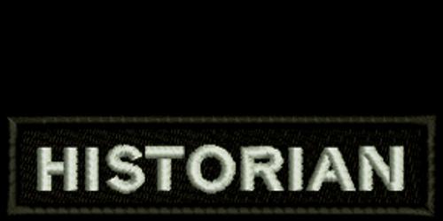 Historian Biker Embroidered Patch
