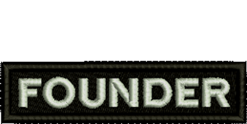 Founder Biker Embroidered Patch