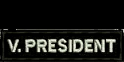 V. President Biker Embroidered Patch