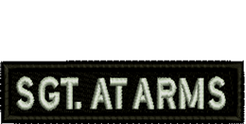 SGT. At Arms Biker Embroidered Patch