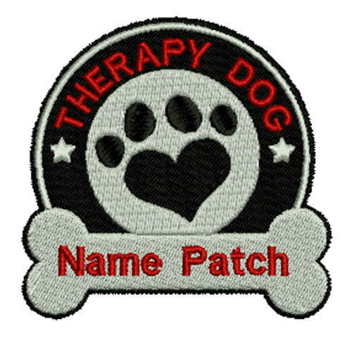 Custom Therapy Dog Embroidered Patch