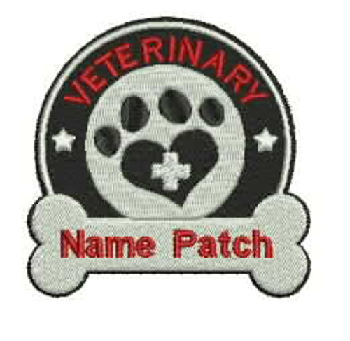 Custom Veterinary Embroidered Name Patch