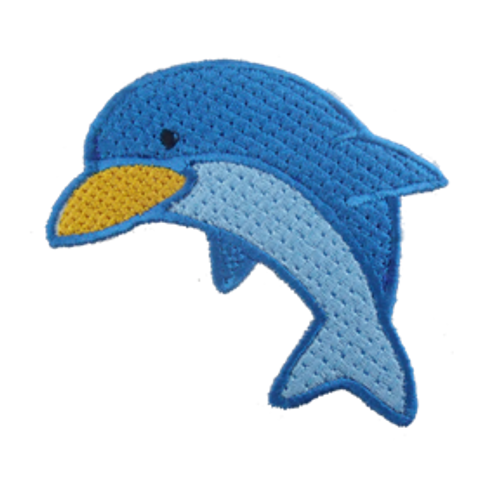 Baby Dolphin Embroidered Patch