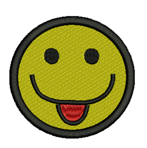 Smiling Face Embroidered Patch