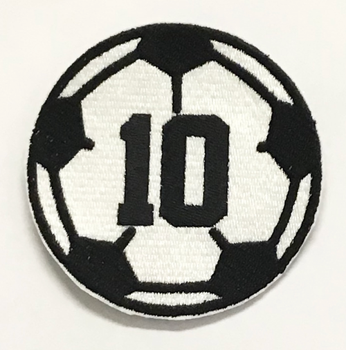 Custom Soccer Ball Embroidered Patch