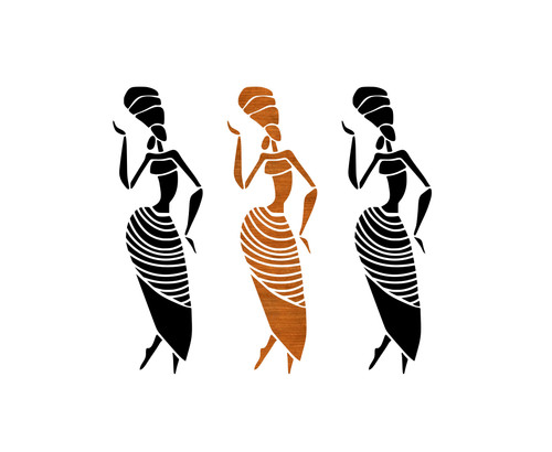 African Women Illustration Wall Art Digital Download