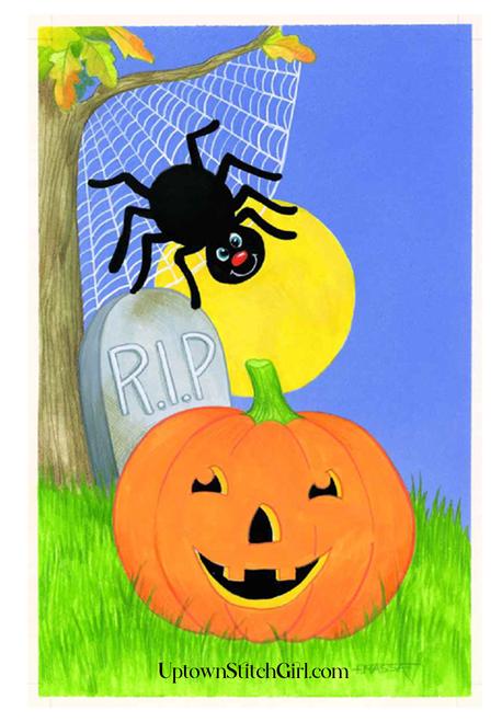 RIP Pumpkin Kid Friendly Halloween Digital Wall Art Download