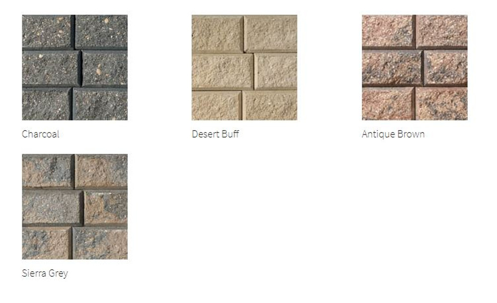 Stackstone Retaining Wall - Colours