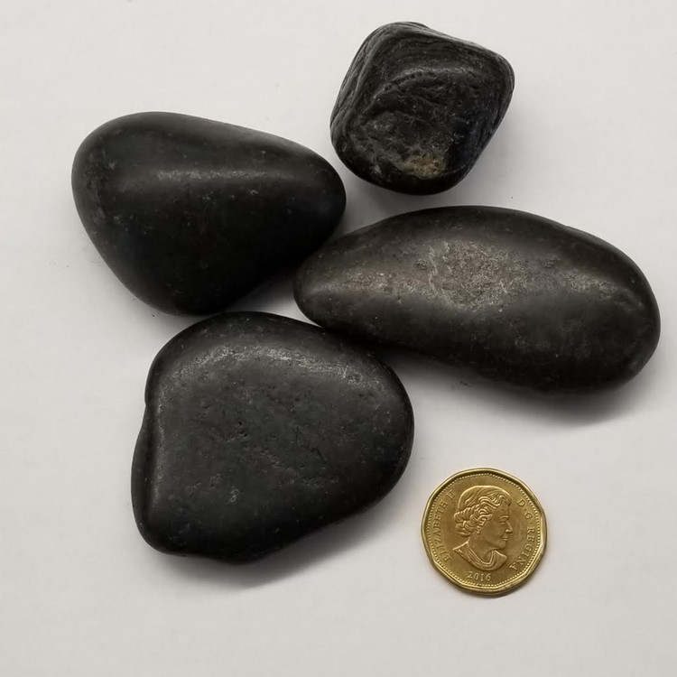 Black Polished Pebbles 25-50mm 18KG bag